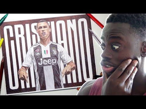 CRISTIANO RONALDO PEN DRAWING | Welcome To Juventus