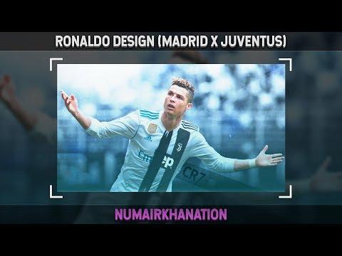 Cristiano Ronaldo Design (Real Madrid x Juventus) | Photoshop Speedart #44