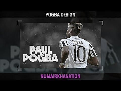 Paul Pogba Design (Juventus) | Photoshop Speedart #17