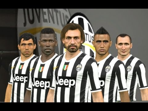 PES 2014 – Juventus Player Faces ( HD 1080p )