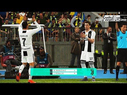 CHIEVO vs JUVENTUS FC | C.Ronaldo debut | Full Match & Amazing Goals | PES 2018 Gameplay PC