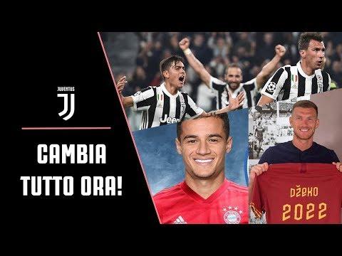 CAMBIA TUTTO il mercato Juventus! UFFICIALE: Dzeko rinnova con la Roma e Coutinho al Bayern Monaco!