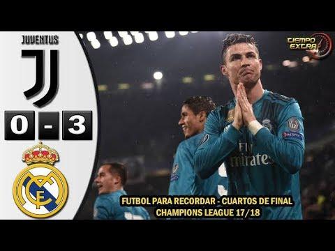 Juventus vs Real Madrid 0-3 UCL 17/18 Resumen Highlights Relato de fernando palomo 03/04/2018