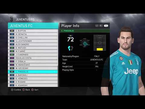 PES 2018 Data pack 1 | Juventus New players Faces