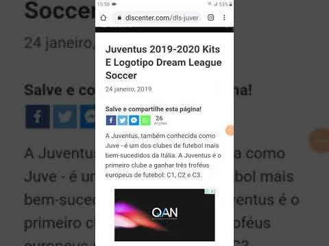 Como colocar o kit da Juventus no dream league soccer 2019