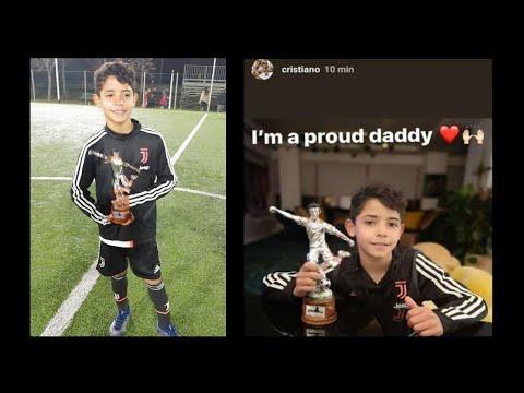 Cristiano Ronaldo Junior Meilleur Attaquant U9 + Trophée Cavour