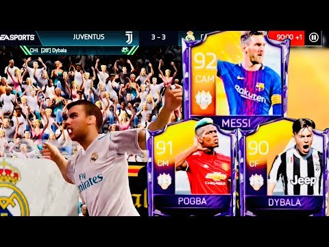 TOTW MESSI,POGBA,DYBALA – Real Madrid & Juventus Hybrid Squad Gameplay Review – fifa mobile