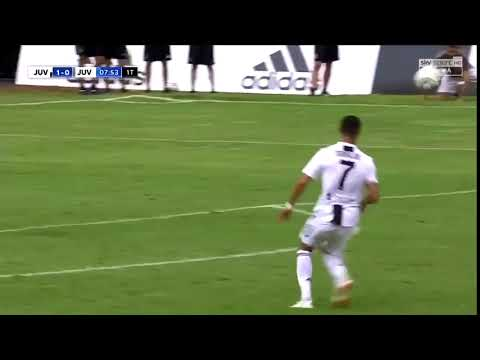 Cristiano Ronaldo first goal in Juventus