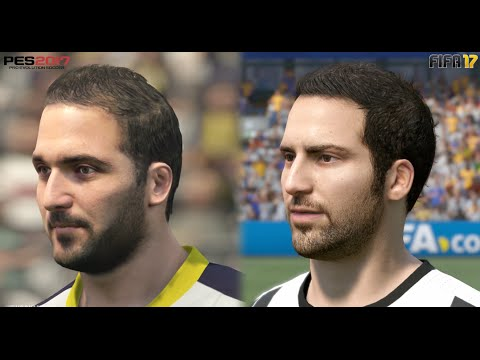 FIFA 17 vs PES 17 Juventus ALL Player Faces Comparison (Xbox One, PS4, PC)