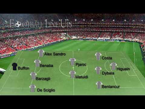 Barcelona 3-0 Juventus Champions League 2017/2018 – Juventus Lineup