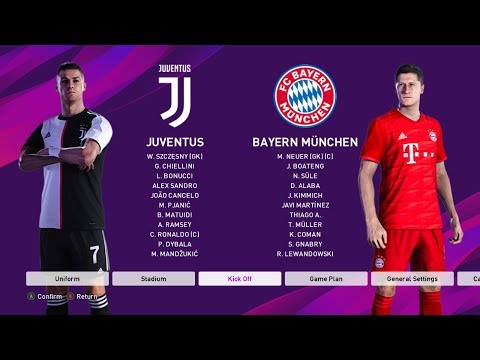 PES 2020 | JUVENTUS VS BAYERN MUNICH | Gameplay PC
