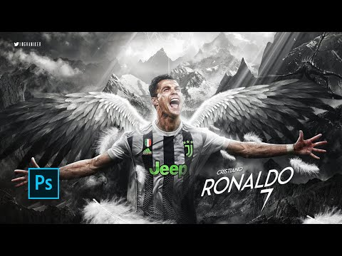Photoshop manipulation | Cristiano Ronaldo Wallpaper (Juventus FC) 2019/20 | Speed art