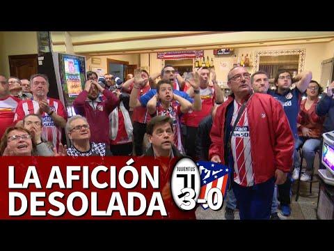 Juventus 3-Atlético 0   Así vivió la afición del Atlético la eliminación de su equipo   Diario AS