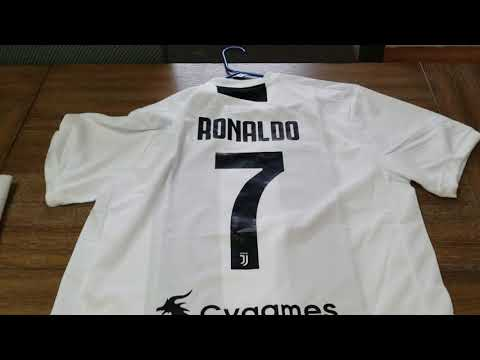 Minejerseys.vip Ronaldo Juventus 18/19 home unbox and review