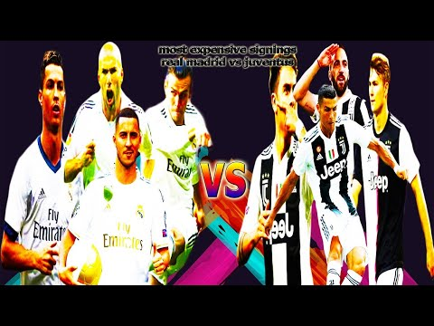 REAL MADRID VS JUVENTUS TOP TEN MOST EXPENSIVE SIGNINGS EVER (2020)