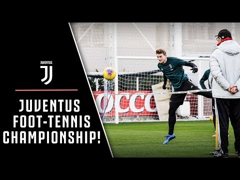 TRAINING   WHO WILL BE THE JUVENTUS FOOT-TENNIS CHAMPION? ⚽️🎾🏆