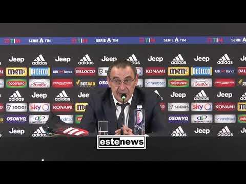 "Juve-Brescia 2-0, Sarri: ""Fischi? Stadio esigente. Lazio-Inter? No, Empoli-Pisa"""