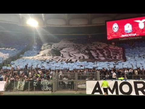 LAZIO – Juventus Finale di coppa Italia SCENOGRAFIA IRRIDUCIBILI