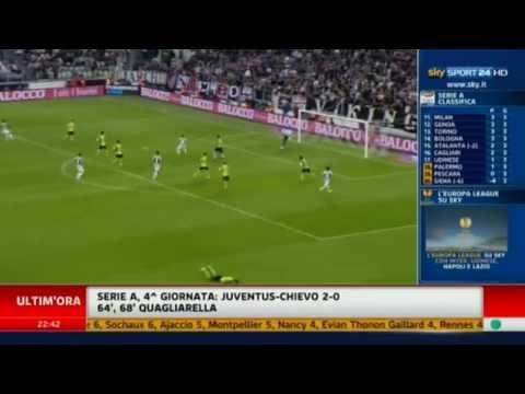 Juventus – Chievo 2-0 Highlights Ampia Sintesi (22.9.12)
