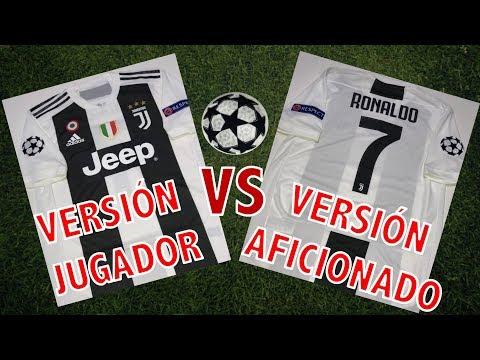 Jersey Juventus VERSIÓN JUGADOR vs VERSIÓN AFICIONADO: CRISTIANO RONALDO #7 Edición Champions League