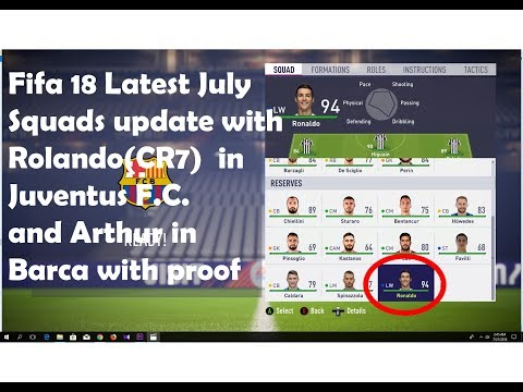 How to update all latest july last Squad with rolando in Juventus in Fifa 18|HD|GM ET Official Video