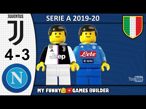 Juventus Napoli 4-3 • LEGO Serie A 2019/20 • Sintesi 31/08/2019 • All Goal Highlights Lego Football