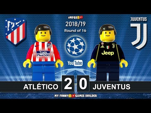Atletico Madrid vs Juventus 2-0 • Champions League 2019 (20/02) All Goals Highlights Lego Football