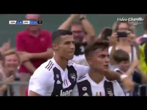 Juventus A vs Juventus B (U21) 5-0 DEBUT Goal Cristiano Ronaldo Villar Perosa 12/08/2018 HD