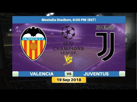Valencia vs Juventus 19/9/2018 Lineup Preview & Prediction | UEFA Champions League 2018/2019