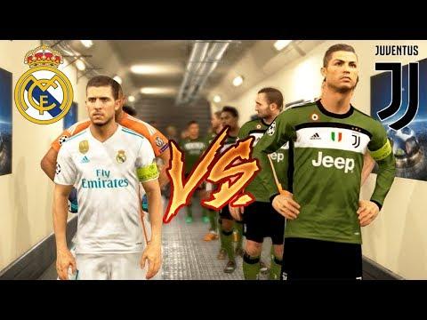 PES 2018   RONALDO VS HAZARD   VINICIUS Jr debut   Juventus Vs Real Madrid Full Match