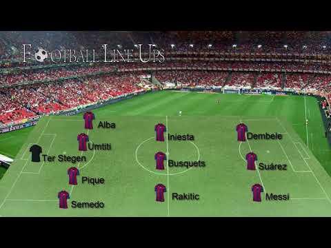 Barcelona 3-0 Juventus Champions League 2017/2018 – Barcelona Lineup