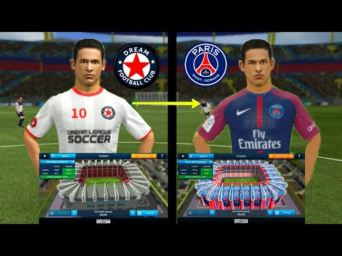 How To Create PSG Team ★ Kits Logo Players & Change Stadium ★ Dream League Soccer 2018