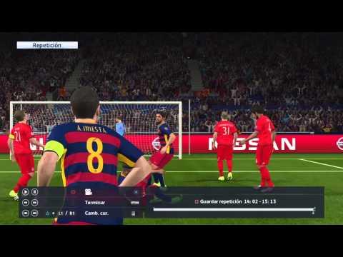 Pes 2016 Juego Completo Barcelona vs Bayern Munchen Parte1
