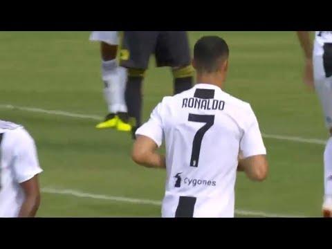Cristiano Ronaldo First Match for Juventus