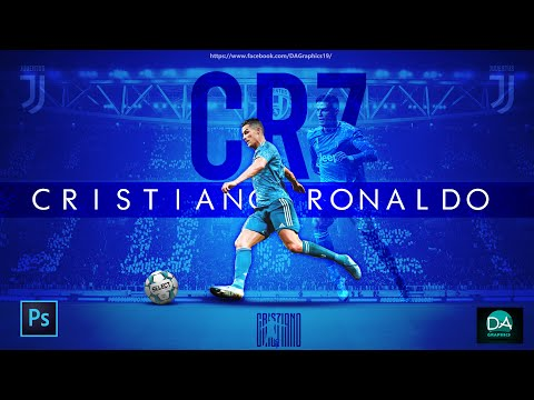 CRISTIANO RONALDO JUVENTUS FOOTBALL WALLPAPER/BACKGROUND/POSTER DESIGN | PHOTOSHOP TUTORIAL