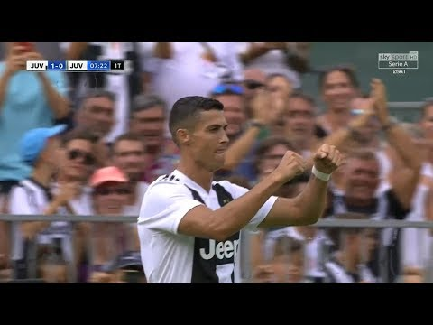 Cristiano Ronaldo First Goal for Juventus (12/08/2018) HD