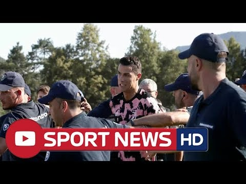 Cristiano Ronaldo escorted away by security following encounter with Juventus B