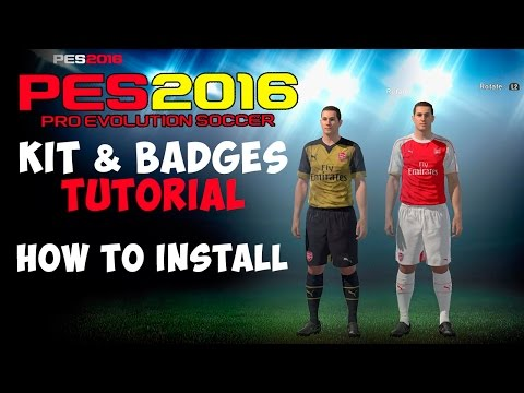 [TTB] PES 2016 – Edit Mode – Kits and Badges Tutorial – How to Install