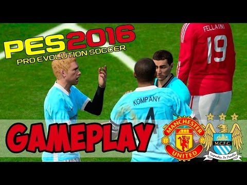 [TTB] PES 2016 Full Gameplay – Manchester United vs Manchester City – The way to play!