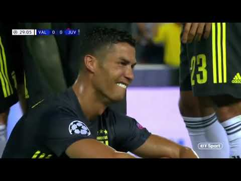 RONALDO GETS RED CARD VS VALENCIA- Juventus VS Valencia HD Highlights