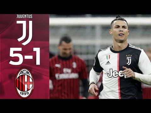 Juventus vs AC Milan 5-1 Highlights & Goals Resumen & Goles (Last Matches)