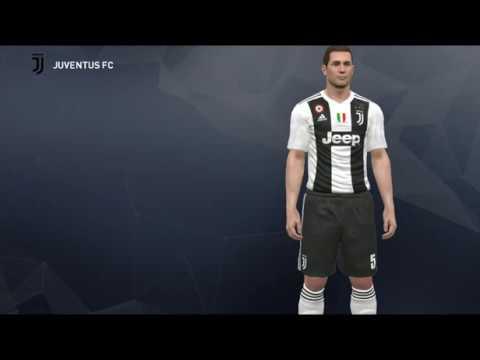 Descargar ✘ Juventus 2018-2019 Nuevos Uniformes ✘ New Kits [Pes2017][CPK File]