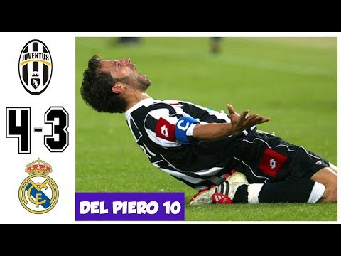 Juventus vs Real Madrid 4-3, Amazing UCL Semifinal 2003 – All Goals and Highlights