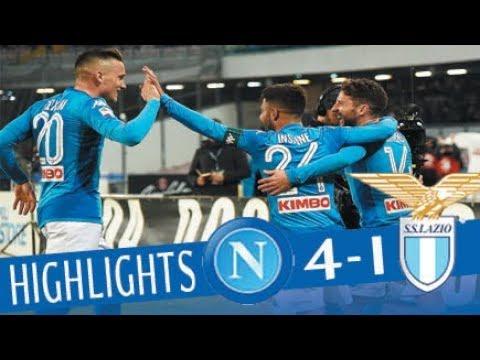 Napoli – Lazio 4-1 – Highlights – Giornata 24 – Serie A TIM 2017/18