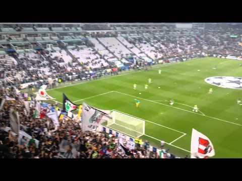 JUVENTUS vs REAL MADRID 2 1 SEMIFINALE DI CHAMPIONS L  ENTRATA PER RISCALDAMENTO