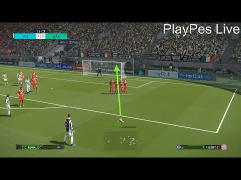 PES 2018 – JUVENTUS vs BAYERN MUNICH – Free Kick Goal C.Ronaldo – PC Gameplay 1080p HD