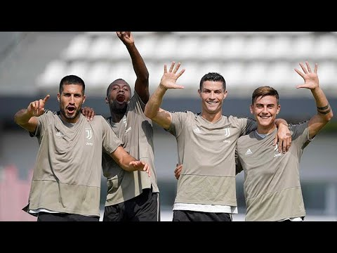 Juventus players training for game vs Parma 2018